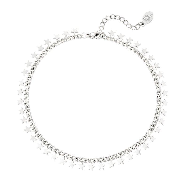 Armband chirurgisch staal dames met bedels