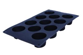 siliconen zeepmal - rond - 11 stuks - ZMR023