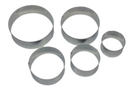 - NIEUW - uitsteker set - RVS - 5 stuks - Cirkel - USP001