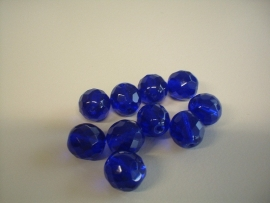 bead - DQ polished facet - blue/ purple - 12 mm - 10 units - KEB038