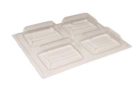 zeepmal - rechthoek - 4 stuks - ZMP033