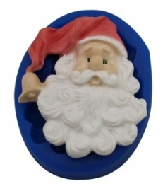 - SALE - First Impressions - Mold - Christmas - Small Santa Head - SE244