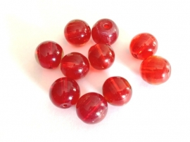 bead - acrylic bead - red - 14 mm - 10 units - KEB45