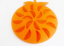 rubber shape - orange slices - ZMR041