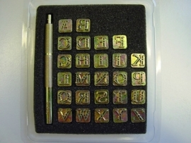 Soap stamp set - alphabet - ornamental letters - small - ZES008