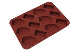 siliconen zeepmal - chocolade bonbons - mini - 12 stuks - ZMR022