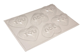 Soap mold - heart - I LOVE U - 6 units - ZMP045