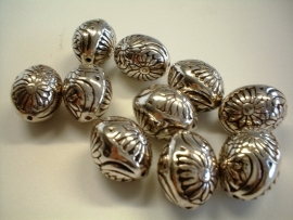 bead - metallic oval type 34 - 15x 20  mm - 10 units  - KEB022