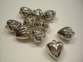 bedel - metaal look hart type 36 - 11 x 18 x 18 mm - 10 stuks - KEB023