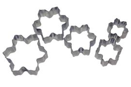 - NIEUW - uitsteker set - RVS - 5 stuks - Sneeuwvlok - USP006