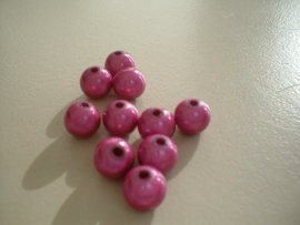 HQ bead - round miracle 3D - pink  - 8 mm - 10 units - KEB012