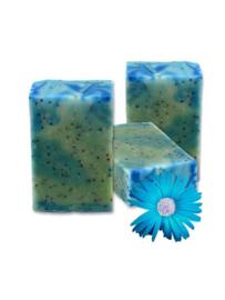 SQ-Natural - Olive Oil Soap - Eucalytus & Blue Poppy scrub - SQN09