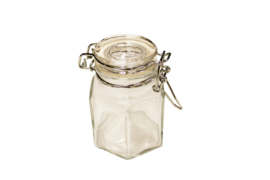 Hexagonal jar + metal stopper - BEP01