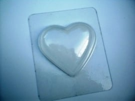 Bath Bomb mold - heart - large - (temporary soap mold) BMP04