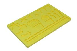 rubber mal - siervormen - type 4 - geel - ZMR028