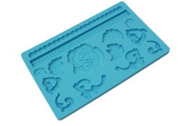 rubber mold - decorative shapes - type 1 - blue - ZMR025
