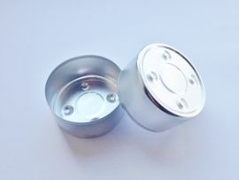 Tealight / Waxinecup - aluminium - silver - KLW30