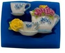 - SALE -  First Impressions - Mold - Flowers - tea set - FL258
