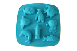 rubber mold square - marine animals - ZMR054