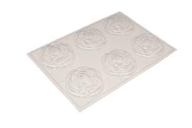 Zeepmal - rozen - groot - 6 stuks - ZMP038