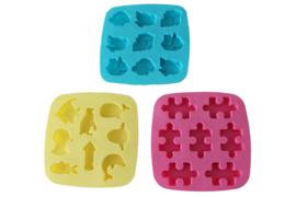 - NIEUW - assortiment rubber mallen vierkant  - 4 x 3 soorten - ZMR053