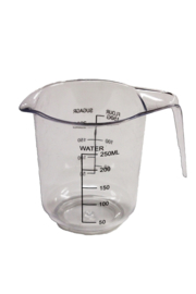 plastic measuring cup - hard - 250 ml - MEM11