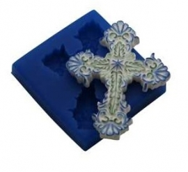 - SALE - First Impressions - Mold - Crosses - scalloped cross - CR110