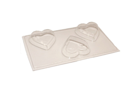 Soap mold - heart - medium - 3 units - ZMP017