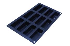 siliconen zeepmal - rechthoek - 12 stuks - ZMR019