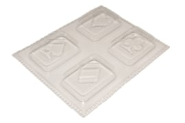 Soap mold - playing cards - 4 units - ZMP041