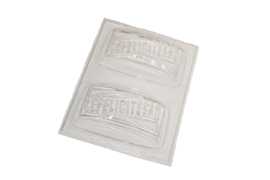 Soap mold - rectangle - congratulations - 2 units - ZMP035
