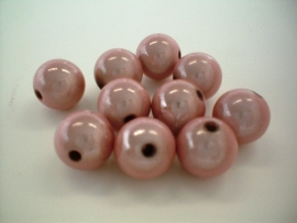 HQ bead - round miracle 3D - light pink  - 12 mm - 10 units - KEB014
