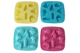 rubber mal vierkant - zeedieren  - ZMR054