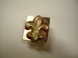 Soap stamp - French lily - without pressure pin - ZES001