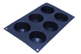 siliconen zeepmal - rond - 6 stuks - ZMR024