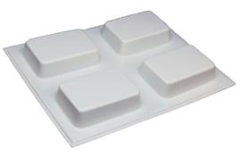 Zeepmal - rechthoek - 4 stuks - (tijdelijk wit) ZMP033