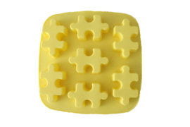 rubber mold square - puzzle pieces - ZMR056
