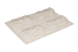 Soap mold - racing car - 4 units - ZMP032