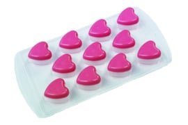 rubber / plastic mold  - hearts - ZMR033