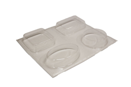 Soap mold - assorti of 4 - ZMP001
