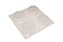 Soap mold - round - animal paw - 4 units - ZMP037