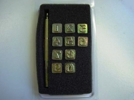 Soap stamp set - ornamental numbers - small - ZES002