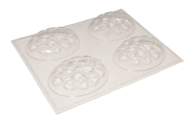 Soap mold - oval with little hearts - 4 units - ZMP030