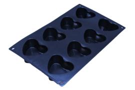 - NIEUW - siliconen zeepmal - hart - 8 stuks - ZMR026