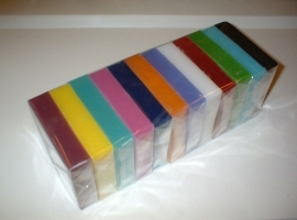 Glycerin soap - Rainbow pack  (12 x 100 grams) - GLY242