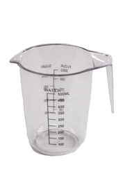 plastic measuring cup - hard - 500 ml - MEM12