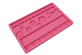 rubber mold - decorative shapes - type 3 - pink - ZMR027