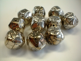 bead - metallic round blocky type 33 - 20  mm - 10 units  - KEB021