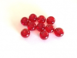 bead - acrylic bead - red - 8 mm - 10 units - KEB44