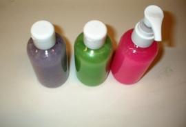 starterspakket - zelf vloeibare suspensie zeep maken - glitterzeep